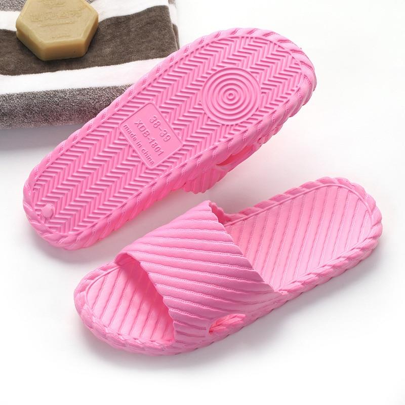 Summer Women Home Slippers Indoor Floor Bathroom Flip Flops Soft Solid Lightweight Female Slides EVA Unisex Beach Shoes Sandals in Slippers from Shoes