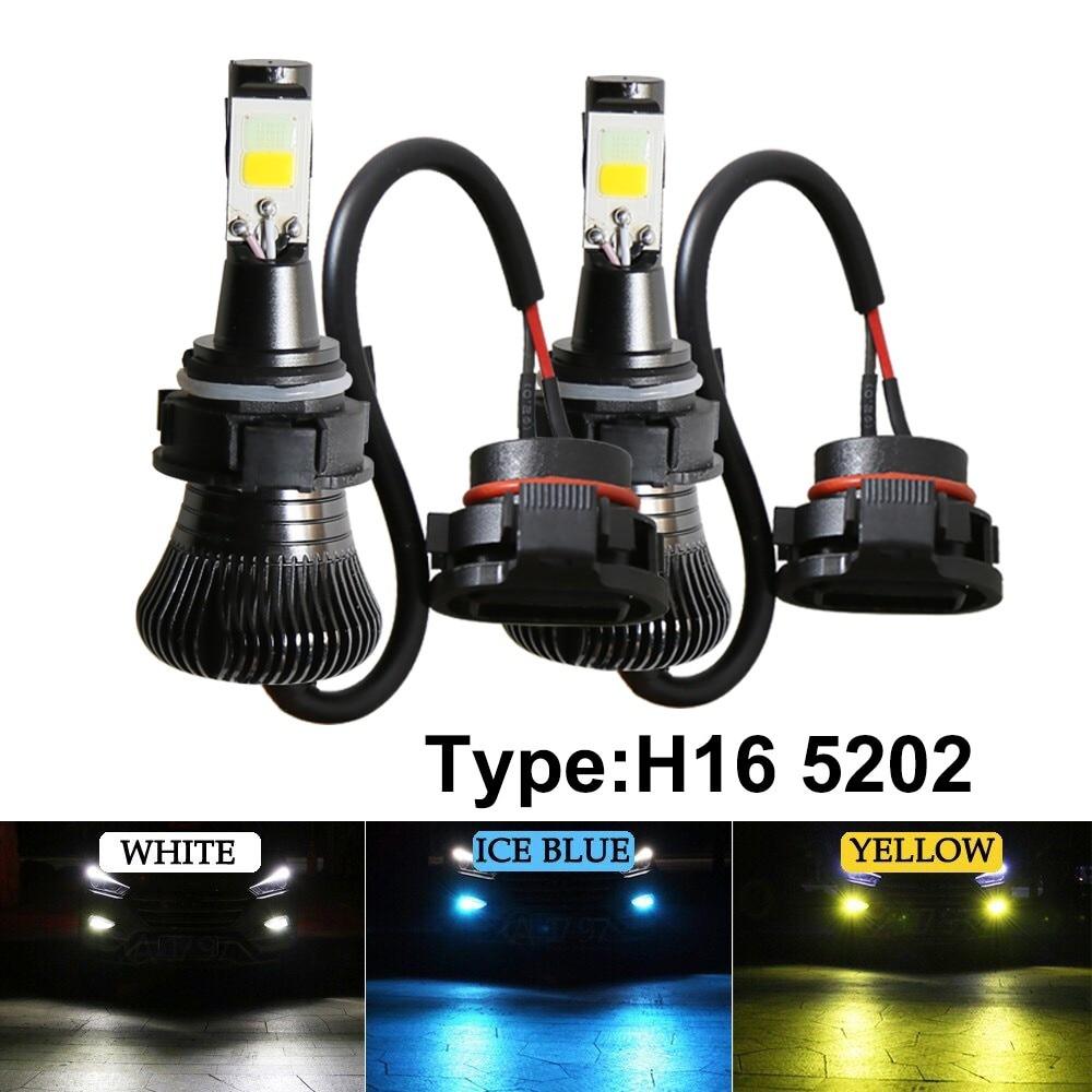 2 предмета в комплекте PSx24W 5202 H16 2 шт. светодиодный туман светильник лампы COB лампы буксировочный цвет мерцающий противотуманная фара