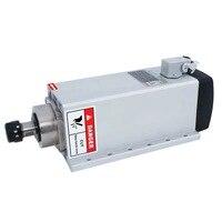 Square 4.5kw air cooled Flange mount spindle motor AC220V/AC380V ER32 18000RPM CNC Milling spindle