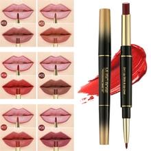 2 In 1 Lip Liner Pencil Lipstick Lip Beauty Makeup Waterproof Nude Color Cosmetics Lipliner Pen Party Lip Stick Makeup Cosmetics in cosmetics интернет магазин