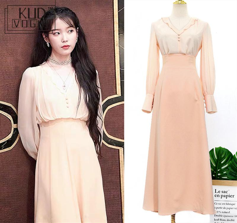 Women Solid Sets  IU Del Luna Hotel Autumn Winter Elegant Sets For Women Korean Dramas Tv Suits Long Sleeve High Waist  Clothes