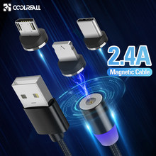 Cable magnético Coolreall Micro usb tipo C IOS carga rápida Micro usb tipo-c cargador magnético cable usb C para iphone11 X Xr Cable(China)