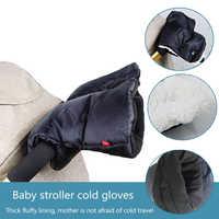 Inverno bebê carrinho de criança luvas de mão capa à prova dwaterproof água velo pushchair quente mão capa mitenes carrinho de bebê acessórios