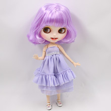 Factory Neo Blythe Doll Purple Hair Jointed Body 30cm