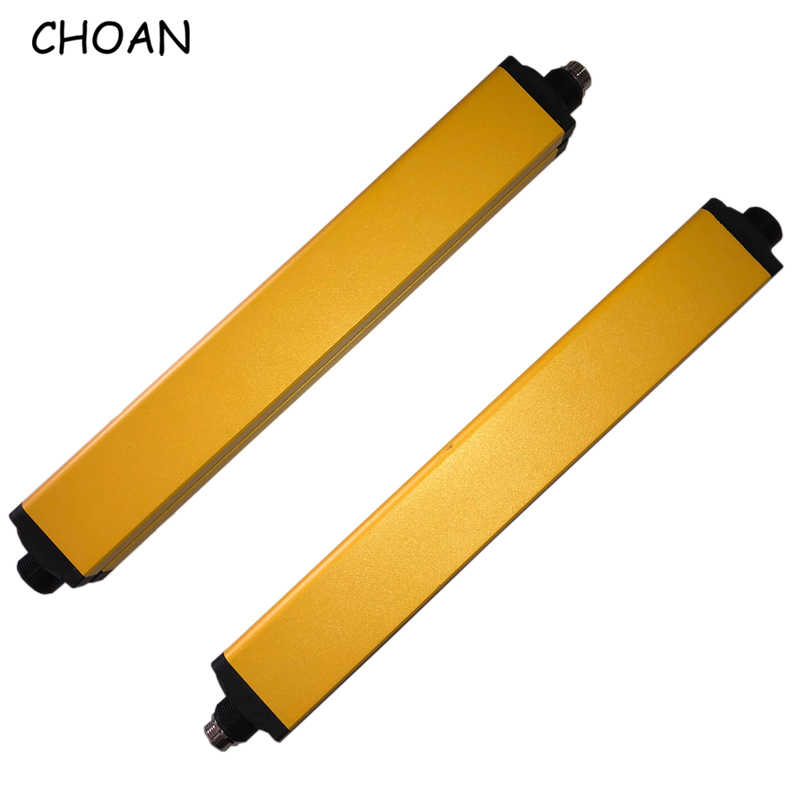 CHOAN SN2014J 20mm 14 vigas protector contra golpes detector infrarrojo receptor emisor cortina de luz de seguridad rejilla de seguridad 24V CC 12V