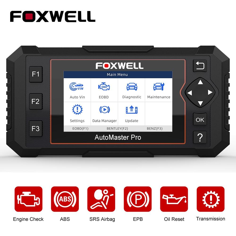 FOXWELL NT614 Elite OBD2 Automotive Scanner Engine Check ABS Airbag Transmission Oil EPB Reset ODB2 OBDII Car Diagnostic Tool on