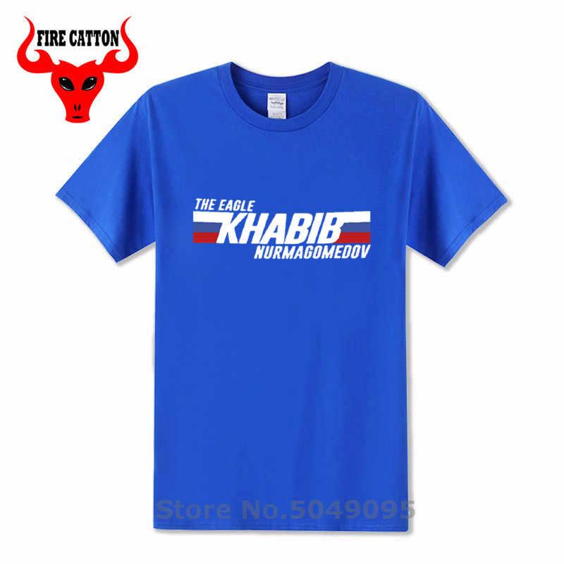 Russische Flagge design Der Adler t-shirt Khabib Nurmagomedov t hemd männer Khabib Zeit t hemd mma kämpfer t-shirt UFC hero kleidung