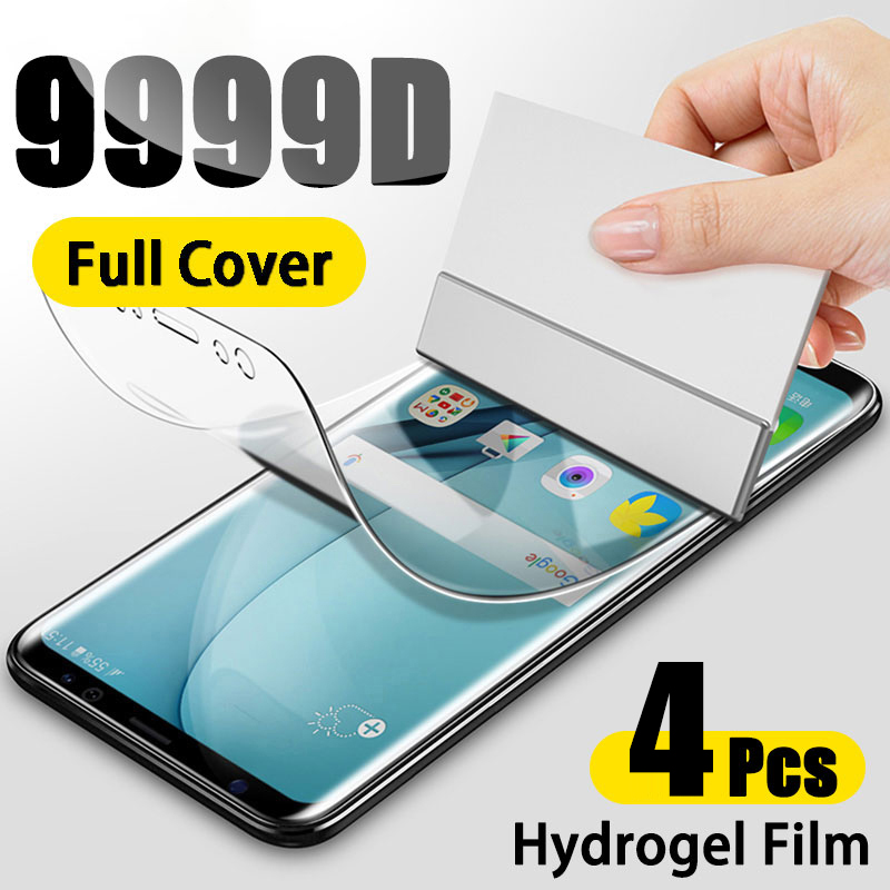 Гидрогелевая пленка 4 шт., Защитная пленка для экрана Samsung Galaxy A50, A51, A52, A70, A71, A72, S20 Ultra, S21, FE Note 20, 10 Plus