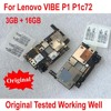 Placa base de trabajo probada para Lenovo VIBE P1 P1a42 P1c72 P1c58, 3GB, 16GB, tarjeta de circuitos, Cable Flex, 100% Original