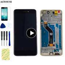 Dla Huawei P8 Lite 2017 ekran LCD PRA-LA1 PRA-LX1 PRA-LX3 wyświetlacz LCD dla Huawei P9 lite 2017 LCD ekran dotykowy rama montażowa tanie tanio AGWSUSI Pojemnościowy ekran For Huawei P8 Lite 2017 P9 Lite 2017 PRA-LA1 PRA-LX1 PRA-LX3 LCD i ekran dotykowy Digitizer