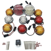 10PCs/Kit for land rover defend light set 90/110 83-90  Led Upgrade Kit Lamp Replace Front Rear Indicator Tail Stop Position