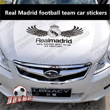 Real Madrid football team car sticker hood rear tail glass fans supplies