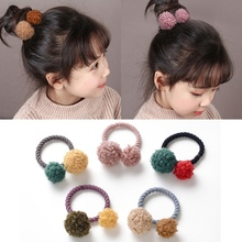 New cute hair ball rope rubber band elastic children Head ring Accessories ornaments
