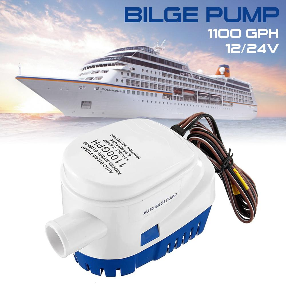 1100GPH Automatic boat bilge pump 12V Electric Marine Pump Boat Water Exhaust Pump Submersible Bilge Sump With Float Switch