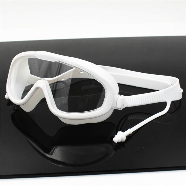 Big frame Professional Swimming Waterproof soft silicone glasses swim Eyewear Anti-Fog UV men women goggles for men women 4