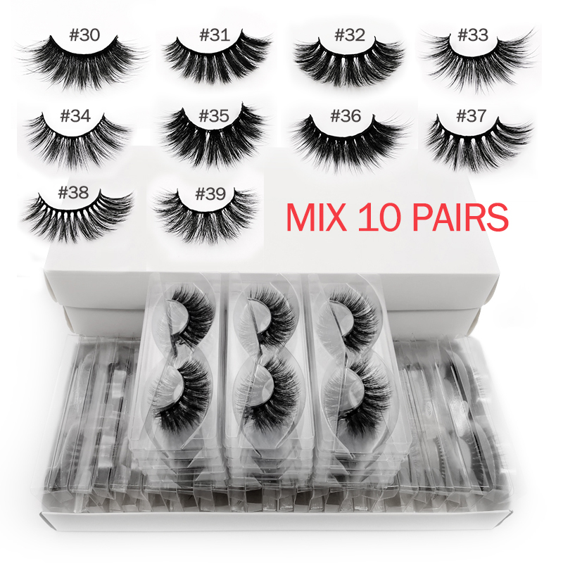 YSDO 10 Pairs Faux Mink Eyelashes Wholesale Natural Long 3d Mink Hair Lashes In Bulk Makeup False Eyelashes Extension Faux Cils