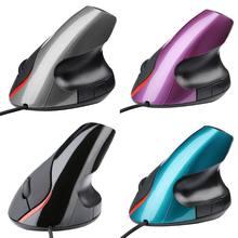 Cura ergonômica vertical do pulso do design do rato ótico de usb para o computador portátil do computador