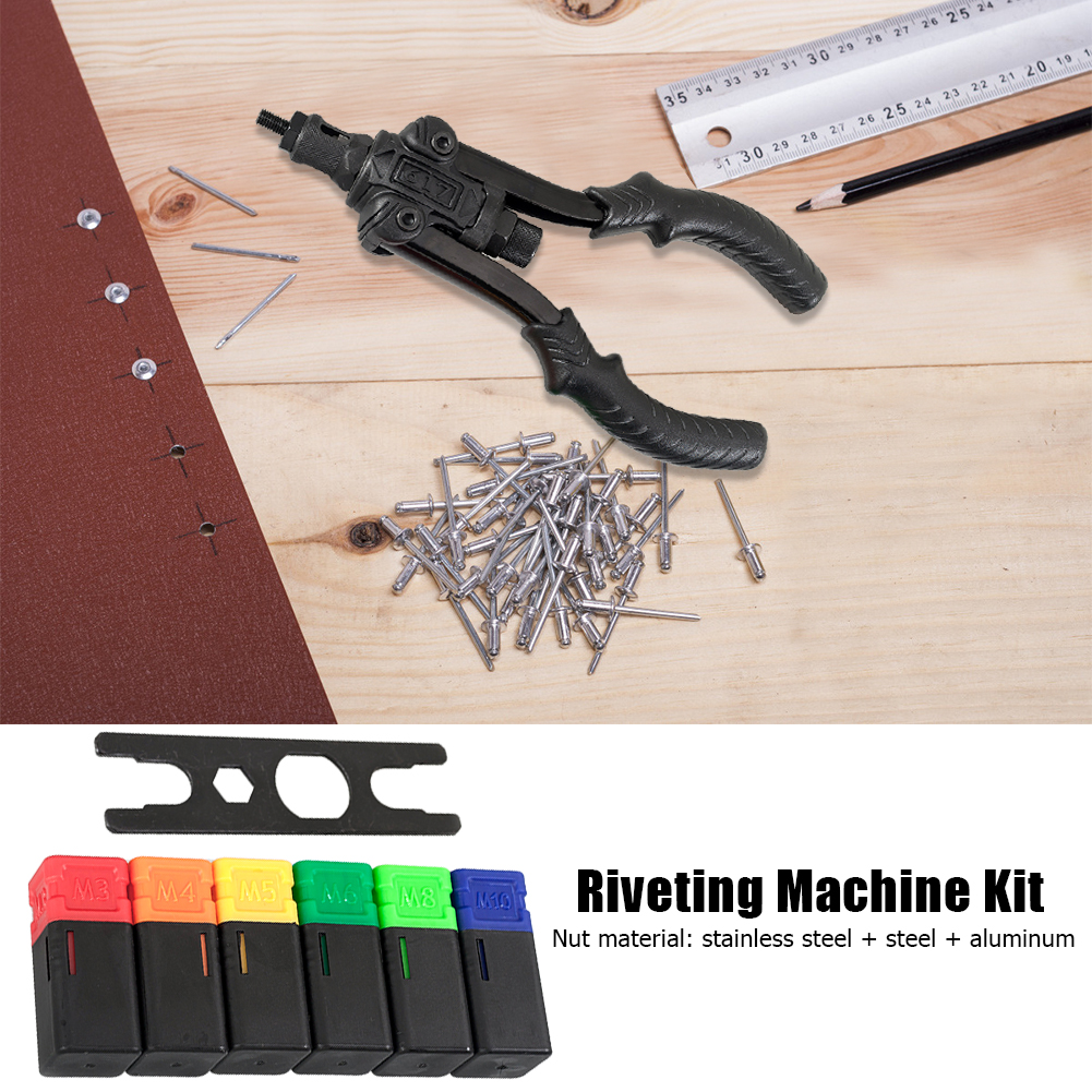 Prolonged Durable Riveter Adapter Kit Electric Rivet Gun Insert Nut Skill Manufacture Riveting Tool Cordless Drill