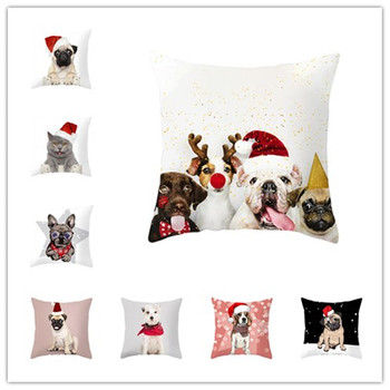 Merry christmas decorations for home Cartoon Pets Pillowcase Christmas Ornament 2020 Navidad Christmas Gift Happy New Year 2021 image