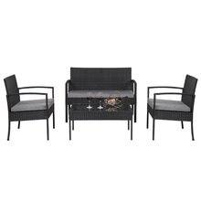 Уличный набор диванов oshion 4 шт уличный плетеной мебели из