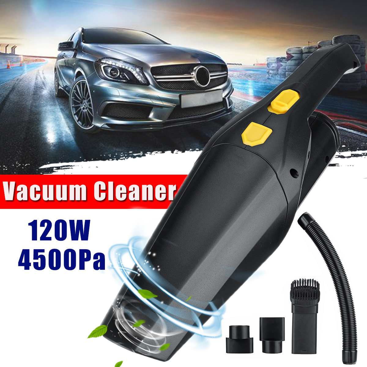 120W 4500pa Handheld Vacuum Cleaner High Suction For Home Car Vacuum Cleaner Wet And Dry Dual-use Aspirador