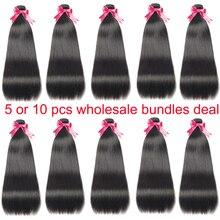 Bundles Hair-Weave Human-Hair Bulk-Sale Straight Brazilian 34 Love Ms 30-32 5pcs 10pcs