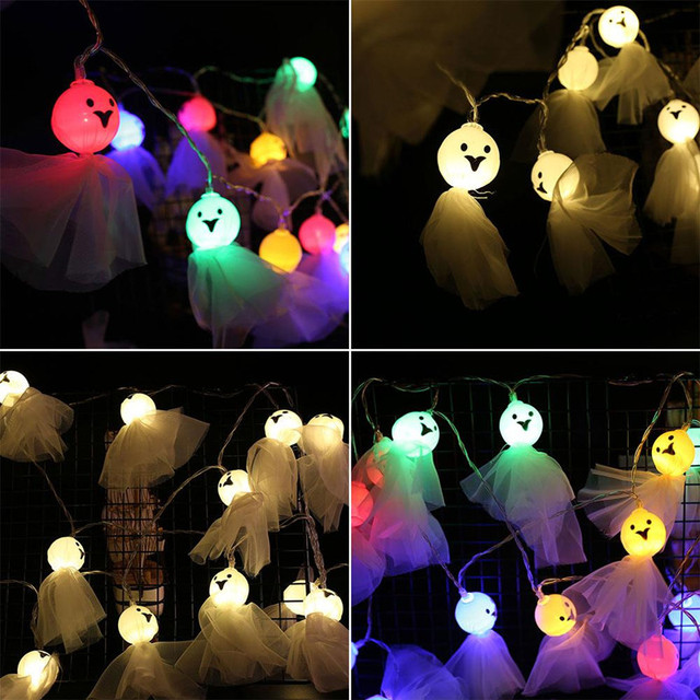 20 40 светодиодный светильник в форме куклы призрака для хэллоуина фотография