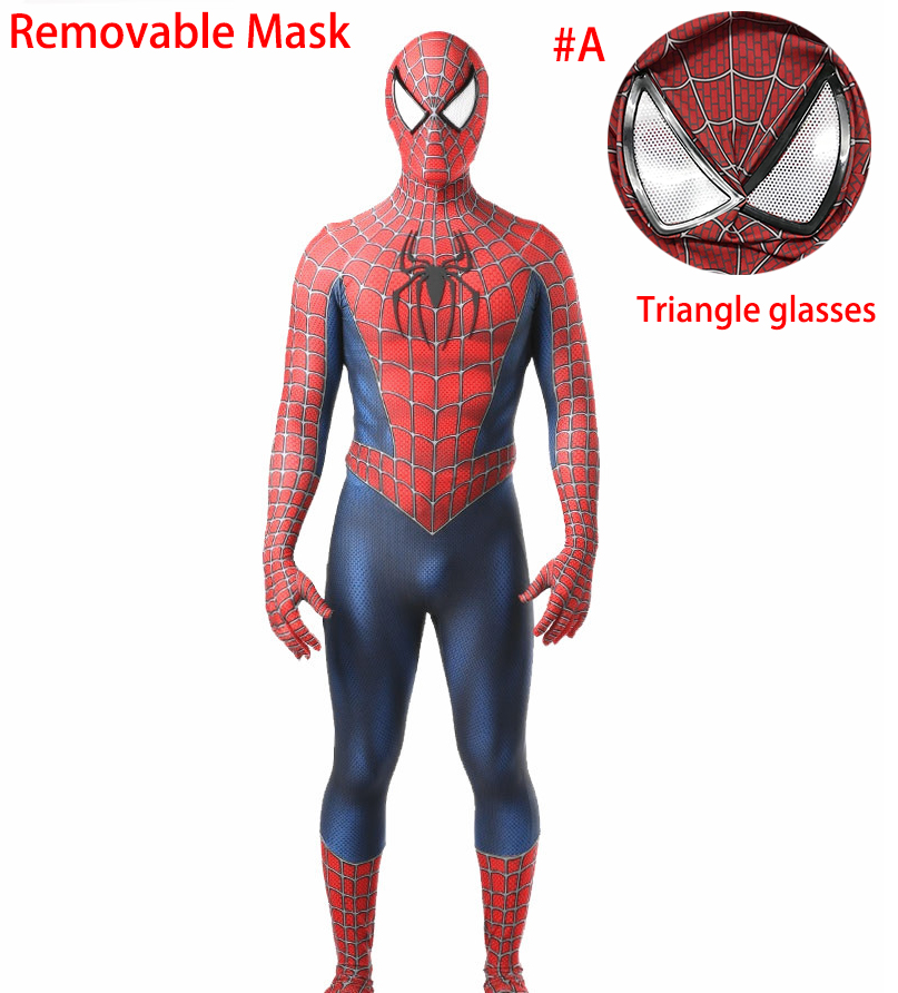 Spider-Man 3 Raimi Spiderman Costume Cosplay Superhero Zentai Bodysuit Jumpsuits Halloween Costume spider Suit for Kid Adult Men 2