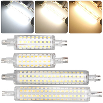 R7S LED 78mm 118mm Flood Light Bulb 2835 SMD Replace 60W 120W Halogen 110V 220V Lamp gx53 led spotlight lamp bulb 10w downlight ultra bright lights 110v 220v ce rohs replace 60w halogen lamp for home freeshipping