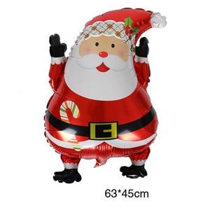 Image 4 - חתיכה החג שמח חדש שנה מסיבת חג המולד מסיבת רדיד בלון סנטה קלאוס עץ חג המולד חמוד איש שלג בצורת בלון דקור