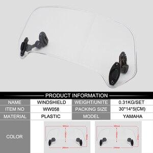 Image 5 - ROAOPP evrensel motosiklet yükseldi ayarlanabilir rüzgar ekran Spoiler hava deflektörü için Honda BMW Yamaha Kawasaki Suzuki