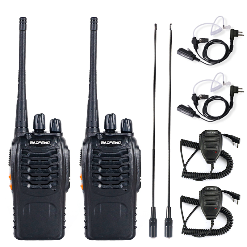 2/4/10Pcs Baofeng BF-888S Walkie Talkie UHF Two Way Radio BF888S Handheld Radio Portable Radio Station Transceiver+ Headsets