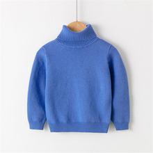 Новинка Осень зима вязаный свитер с высоким воротником зимняя