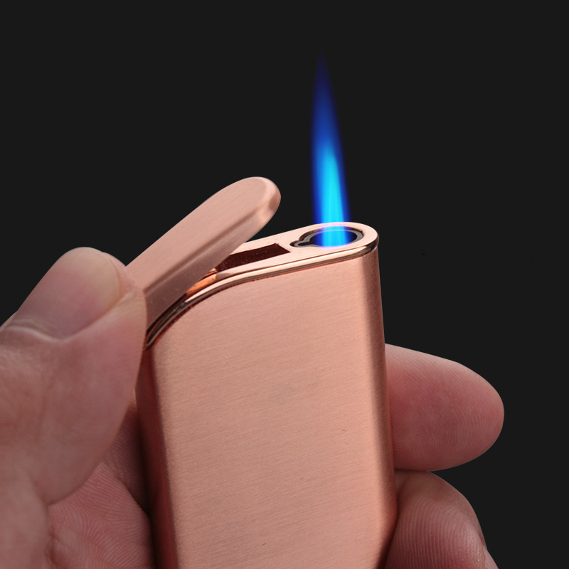 Mini Metal Torch Turbo Lighter gas Lighter Cigarettes Lighters Gas Lighter Visible Gas Metal lighters smoking accessories in Matches from Home Garden