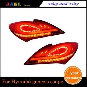 Jael led luzes traseiras para genesis coupe 2009 ~ 2012 ano led cauda lâmpada sinal de freio reverso luz alta qualidade