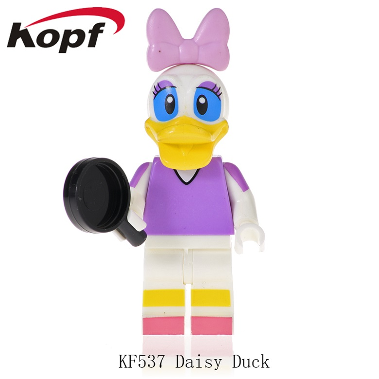 Building Blocks Cartoon Figures Charater Doraemon Mickey Daisy Duck Dolls Action Bricks For Children Toys KF537