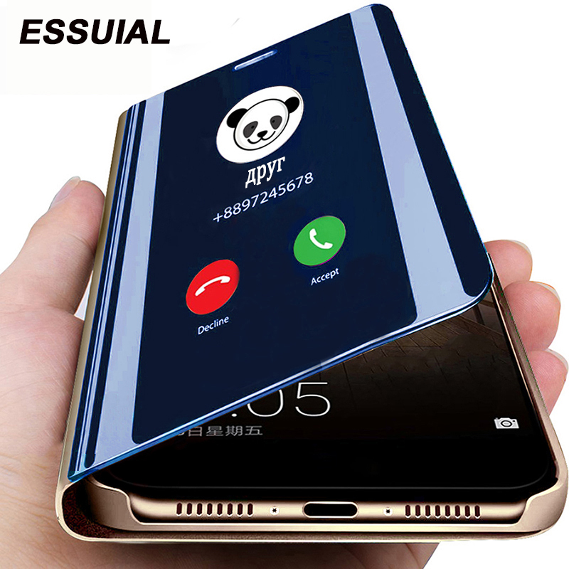 Smart Mirror Flip Case For Huawei P40 P30 P20 Pro Mate 20 10 Lite Honor 20 Pro 10 9 Lite