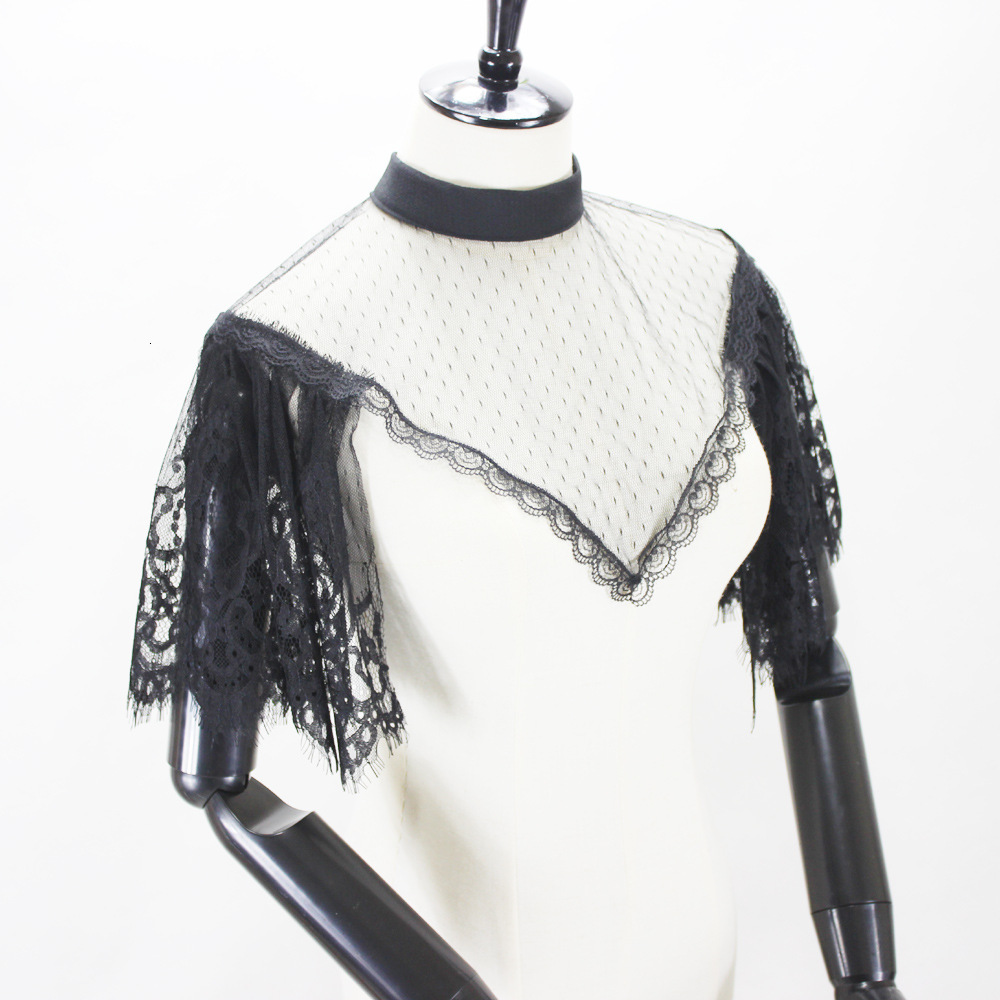Pure Private Flying Sleeve Within Build Dickie Lace Decoration Fake Collar Detachable New Free Shipping Necklace Shirt Women