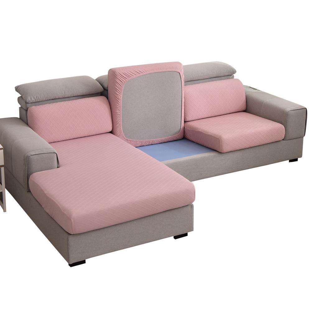 Jacquard xadrez sofá assento capa de almofada sala estar sofá sentado colchão encosto canto chaise longue protetor caso slipcover
