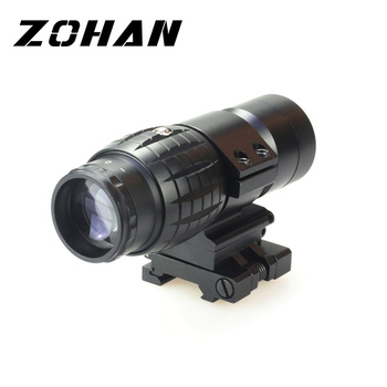 Hot Militaire Airsoft Tactical combat hunting Sight with Flip To Side 20mm Rail Mount Hunting 3X Magnifier Scope Riflescope