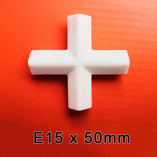 E15x50mm PTFE Máy Khuấy Từ Máy Trộn Khuấy Thanh PTFE Chéo Hình Động Thanh Trắng Quay Thanh, 1 Cái