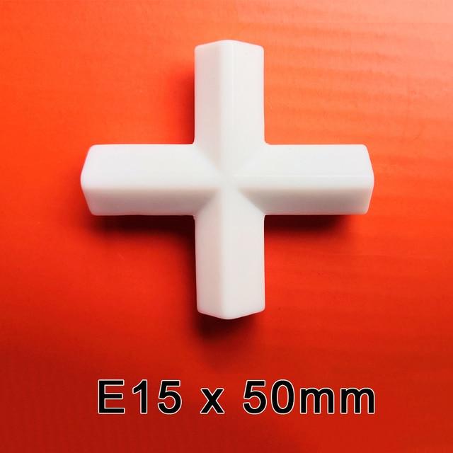 E15x50mm PTFE מגנטי סטירר מיקסר מערבבים ברים PTFE צלב צורת ערבוב ברים לבן ספין ברים, 1pcs