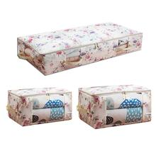 Clothes Storage Bag Folding Quilt Organizer Oxford Fabric Large Capacity Moisture-proof