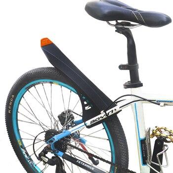 Dernières ailes de vélo en sergé de carbone en plastique réfléchissant autocollant ailes ensemble garde-boue de vélo aile avant arrière pour accessoires de vélo