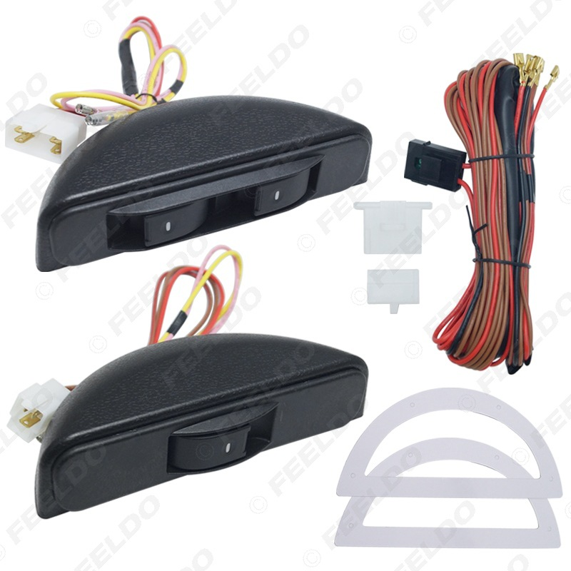 Foreign Trade Hot Sales Car Universal Electric Window Switch Electric Windows Glass Lifter Switch Crescent 3 Switch