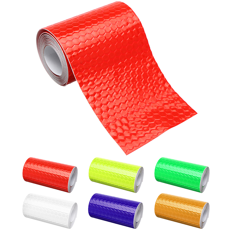 Bicycle Accessories 5cm x 1m Reflective Bicycle Stickers Adhesive Tape For Bike Safety Reflective Bike Stickers Bisiklet Decals