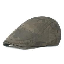 Women Men Winter Camouflage Beret Flat Cap Driver Retro Vintage Casual Baker New