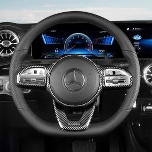 Car Steering Wheel Button Frame Sticker Trim for Mercedes Benz W177 W205 W213 Sport Edition 2019 2020