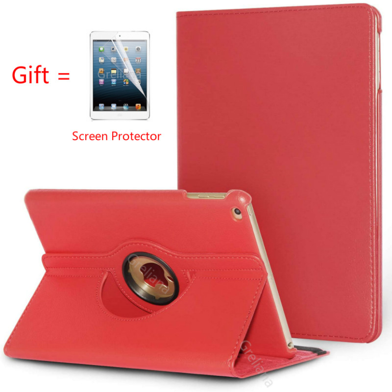 Case for iPad Air models A1474 A1475 <font><b>A1476</b></font> retina cover,Auto Sleep Cover for ipad case Air 2013 Release 360 Degree Rotating Case image