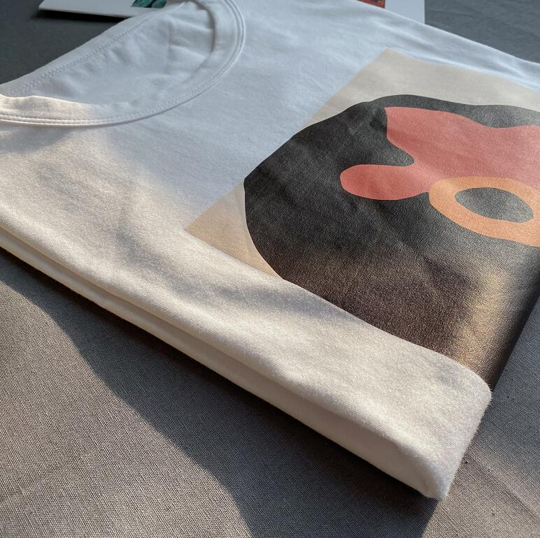 Toppies 2020 summer character t-shirts fashion girls tops short sleeve printing t-shirts korean women clothes 95% cotton 6